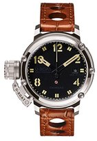 U-Boat CHIMERA 43MM BK BE Men's Automatic Watch with Black Dial Analogue Display and Brown Other Strap 7226.0