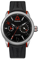 Reebok Flashline Stainless Steel and Silicone Water Resistant Watch
