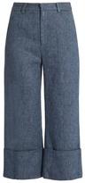 Sea Linen-blend denim trousers