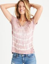 American Eagle Outfitters AE Soft & Sexy Grommet Trim T-Shirt