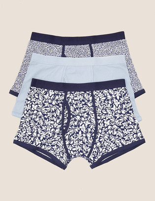 Marks and Spencer 3 Pack Cotton Cool & Fresh Trunks