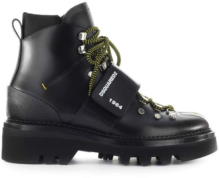 690e57db6df Black Leather Hector Ankle Boot