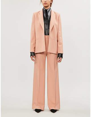 Victoria Victoria Beckham Oversized loose-fit V-neck woven blazer
