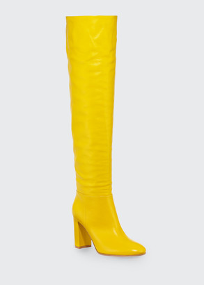 Gianvito Rossi Napa Glove High Knee Boots
