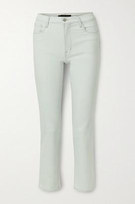 J Brand Adele High-rise Slim-leg Jeans - Light denim