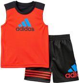 adidas Baby Boy Logo Tank & Shorts Set