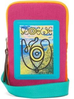 eye/LOEWE/nature Logo-jacquard Canvas Crossbody Bag - Fuchsia
