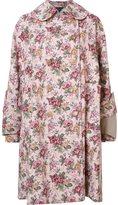 Comme des Garcons floral print mid coat - women - Acrylic/Rayon/Cotton - S