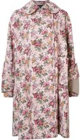 Comme des Garcons floral print mid coat - women - Cotton/Acrylic/Rayon - S