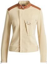 Polo Ralph Lauren Leather-Trim Ponte Moto Jacket