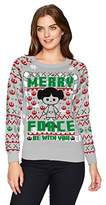 Hybrid Apparel Women's Star Wars Leia Merry Force Holiday Sweater