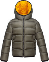 Moncler Serge Hooded Puffer Coat, Olive, Size 4-6