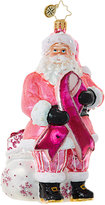 Christopher Radko Breast Cancer Santa Ornament