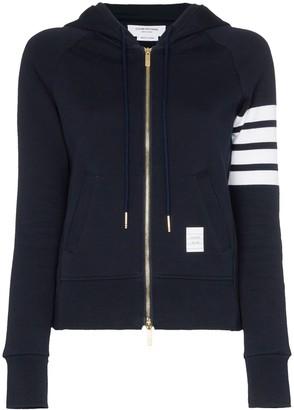 Thom Browne Zipped stripe hoodie