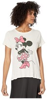 Chaser Disney(r) Minnie Mouse Polka Dot Tee (Au Lait) Women's Clothing