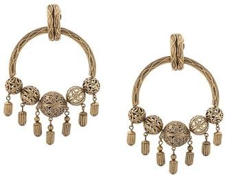 Saint Laurent Ball Hoop Earrings
