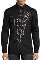 Versace Traditional-Fit Half-Medusa Button-Down Shirt