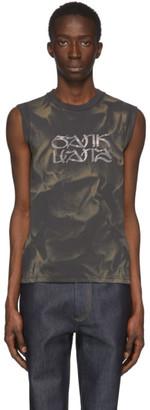 Sankuanz Grey Bleach Sleeveless T-Shirt