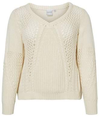 Junarose Asika Long Sleeve Knit Sweater in Vanilla Ice Size M-44