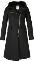 Loveless off-centre zipped coat
