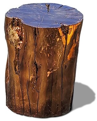 Solid Wood Block End Table Arditi Collection