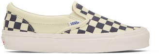 Vans Navy OG Checkerboard Classic Slip-On Sneakers