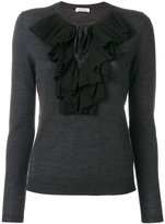 P.A.R.O.S.H. ruffled blouse - women - Polyester/Wool - XS
