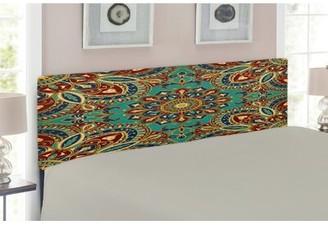 East Urban Home Mandala Upholstered Panel Headboard Size: Twin