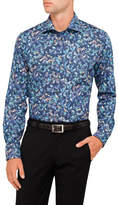Eton Bird Tapestry Print Slim Fit Shirt