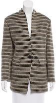 St. John Patterned Metallic-Trimmed Jacket w/ Tags