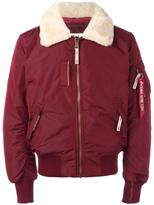 Alpha Industries thick lapels bomber jacket