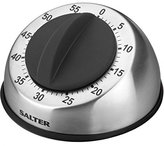 Salter 60 Min Mechanical Timer Stainless Steel And Black