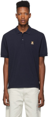 Moschino Navy Teddy Toy Polo