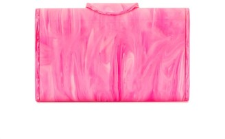Edie Parker Lara marbled effect clutch bag