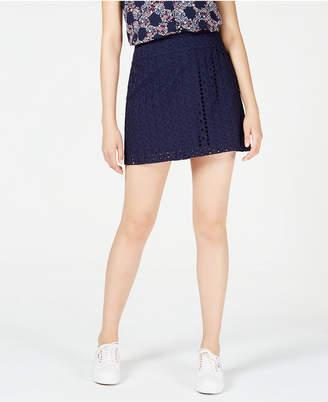 Maison Jules Eyelet Mini Skirt