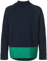 Marni quilted hem colour block sweater