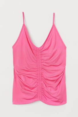 H&M Draped Camisole Top - Pink
