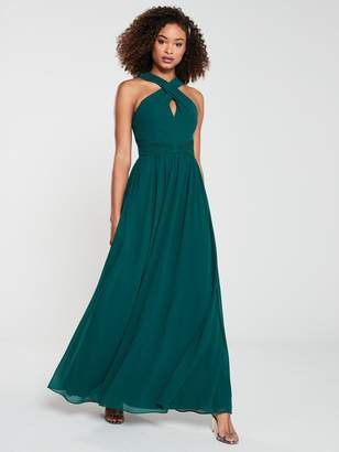 Very Twist Front Maxi Dress - Green