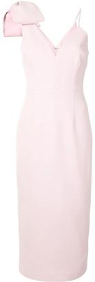 Rebecca Vallance Bow-Shoulder Slip Dress