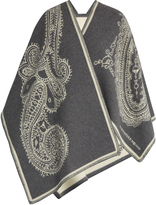 Alexander McQueen Paisley-jacquard wool and cashmere-blend wrap