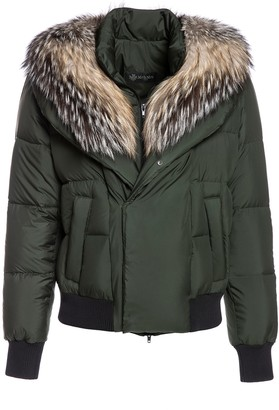 Mr & Mrs Italy Short Puffer Jacket For Woman With Fox Fur
