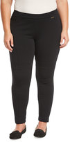 MICHAEL Michael Kors Paneled Ponte-Knit Pants, Black, Plus Size