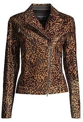 Lafayette 148 New York Women's Vernice Cheetah-Print Calf-Hair Jacket