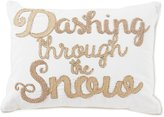 Southern Living Holiday Lux Collection Dashing Through the Snow Embroidered Pillow