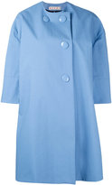 Marni lightweight button coat - women - Cotton/Polyurethane - 42