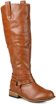 Journee Collection Chestnut Walla Wide-Calf Boot