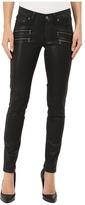 Paige Edgemont Ultra Skinny in Black Silk Coating Women's Jeans