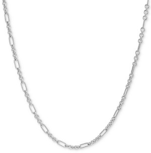 "Carolyn Pollack Figaro Link 36"" Chain Necklace in Sterling Silver"
