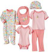 Baby Gear Baby Girl 6-pc. Classic Bodysuit Set
