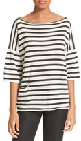 ATM Anthony Thomas Melillo Women's Stripe Oversize Cashmere Sweater